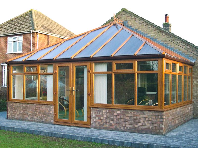 Oak woodgrain PVC Edwardian Conservatory