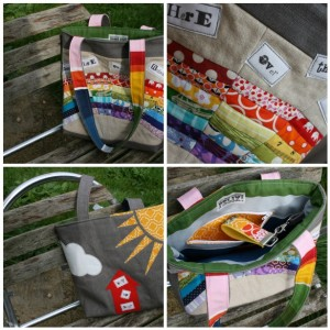 MS rainbow bag mosaic