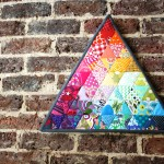 rainbow triangle mini quilt