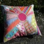 sunburst ticker tape cushion