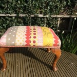 upcycled vintage footstool