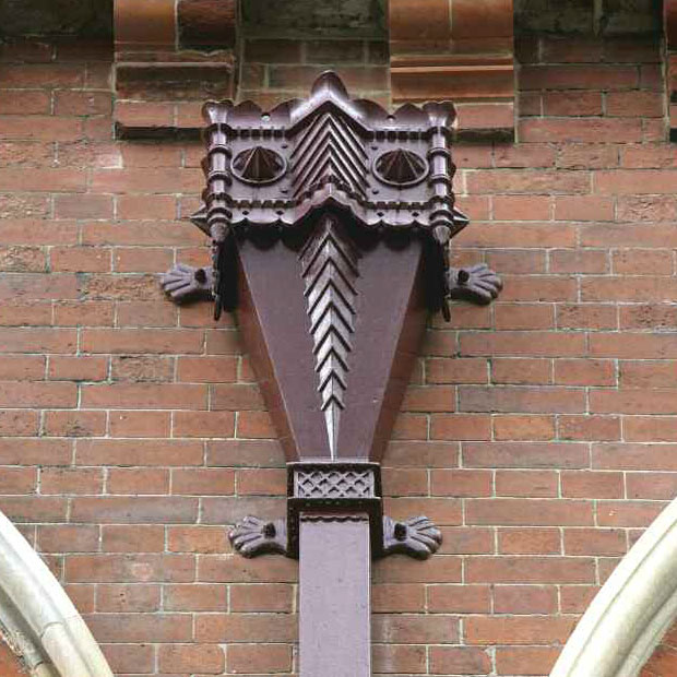 Cast Iron Painted Gutters