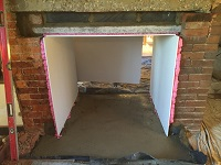 Concreting for the hearth