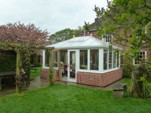 Edwardian Timber Conservatory on a Listed Building in Kent