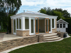A Richmond Oak Orangery with Bifold Doors