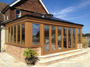 The ultimate timber orangery - a seasoned oak Orangery in Sussex